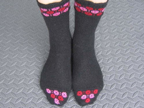 Winter Garden socks