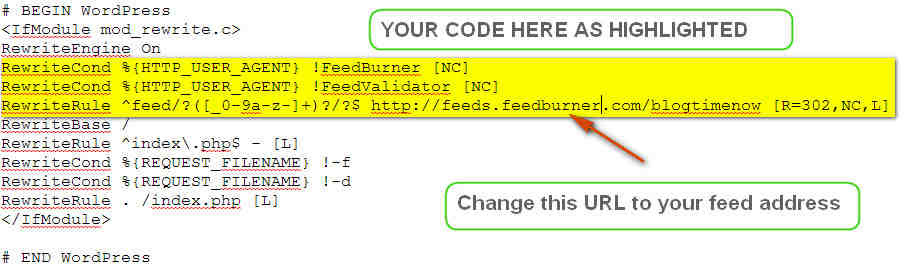 How to setup Feedburner feeds for wordpress