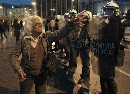 Protesters in Greece have gone again in rebellion in the aftermath of the suicide of a pensioner depressed over the economic crisis. The retiree said that the state was moving toward fascism. by Pan-African News Wire File Photos