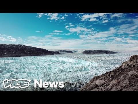 Veja imagens aéreas feita por drones das Geleiras da Groenlândia