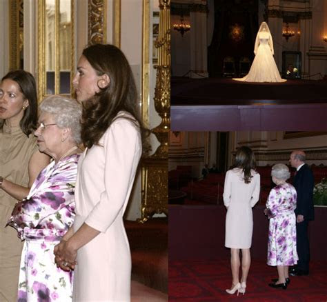 Kate wears Joseph Scala dress to wedding dress exhibition