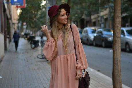 SALMON BABYDOLL DRESS