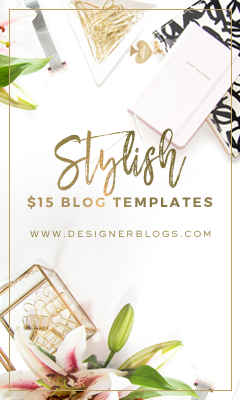 Stylish $15 Blog Templates