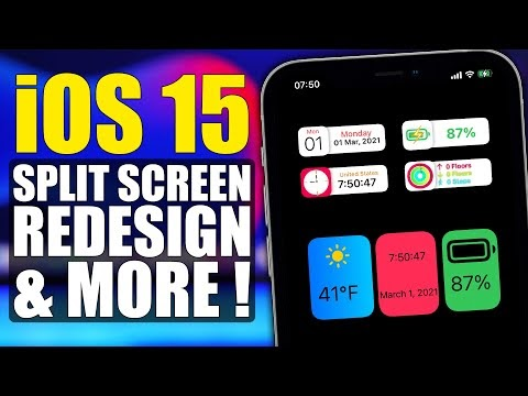 iOS 15 New LEAKS - Split Screen, Redesign & More !