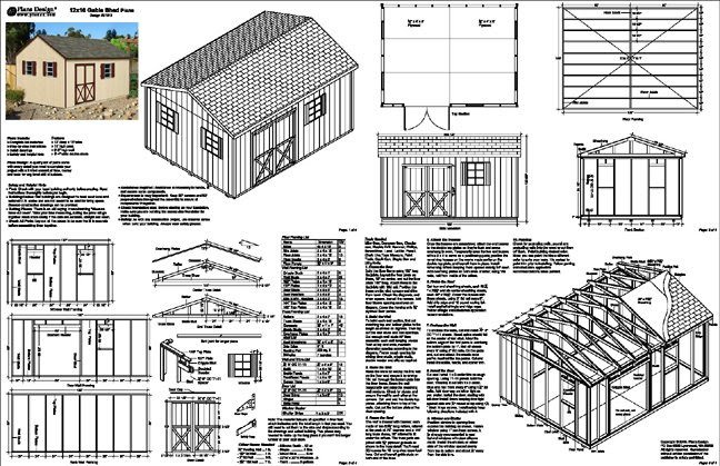 12 X 16 Shed Plans Free