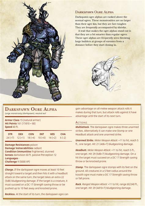 dnd  homebrew dragon age darkspawn  zuroyuso  images dungeons  dragons homebrew