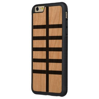 5 Bisected Black Lines Carved® Cherry iPhone 6 Plus Bumper Case