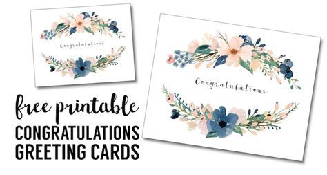 Congratulations Card Printable {free printable greeting