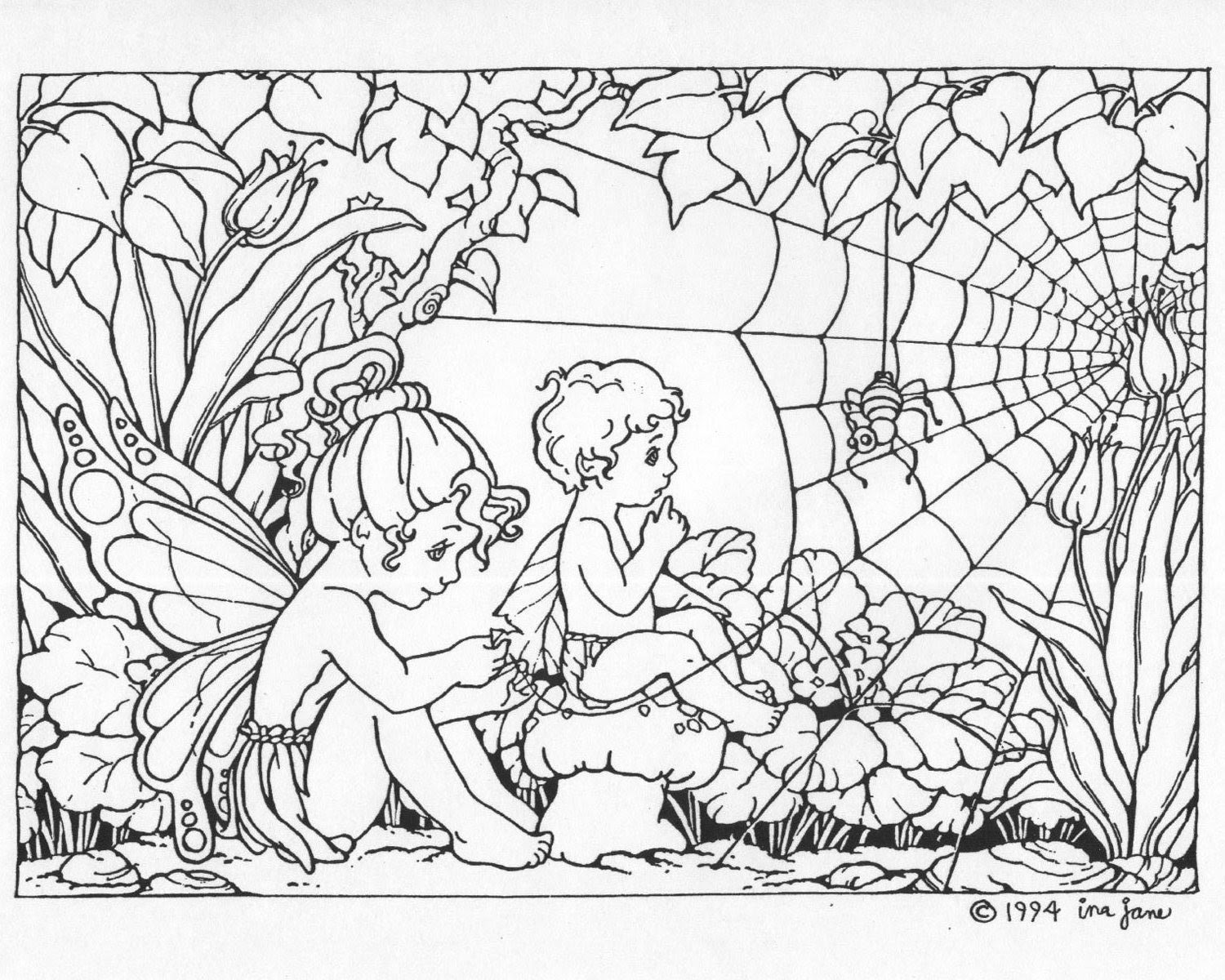 Fairies Coloring Pages (14)   Coloring Kids