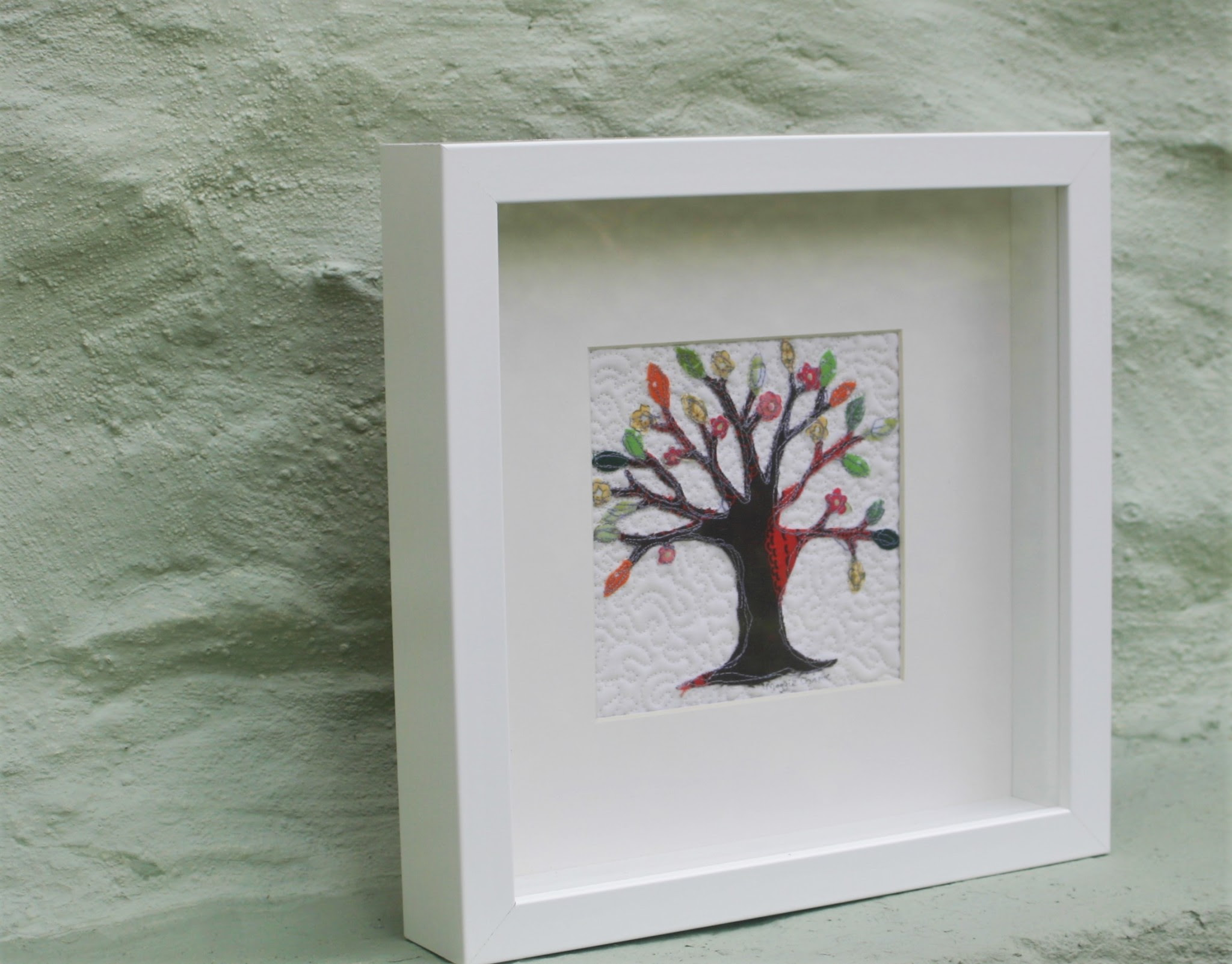 Tree Of Life Framed Stitched Picture