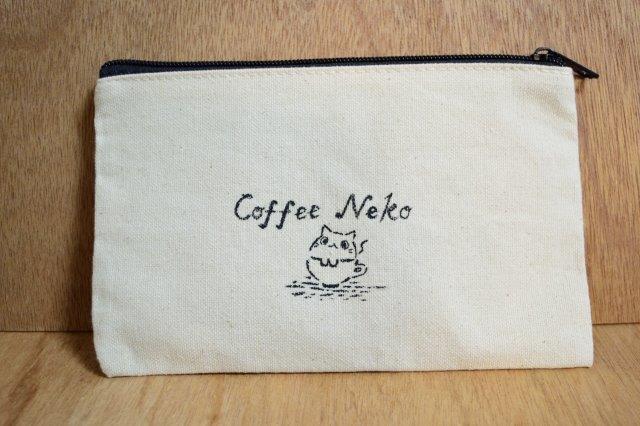 イラストポーチ コーヒーねこ ハンドメイドマーケット Minne