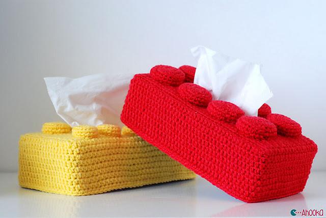 legos boîte de mouchoir au crochet