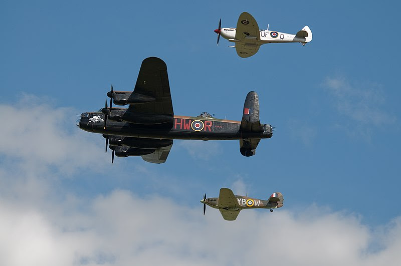 File:Battle of Britain Memorial Flight Waddington Airshow 2010.jpg