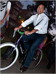 Mayor Antonio Villaraigosa of Los Angeles on a jaunt earlier this month.