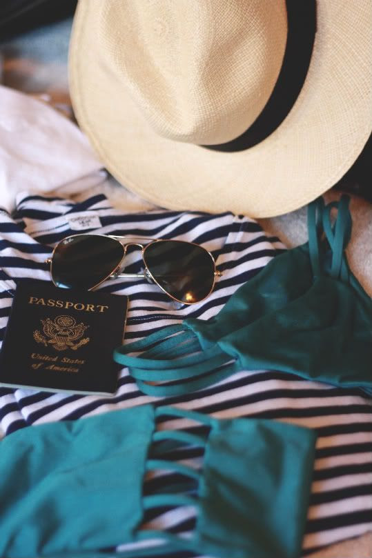 packed for a beachy vacation.