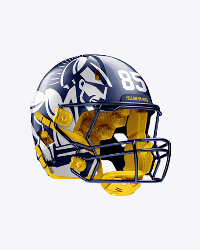 Download American Football Helmet Mockup - Halfside View