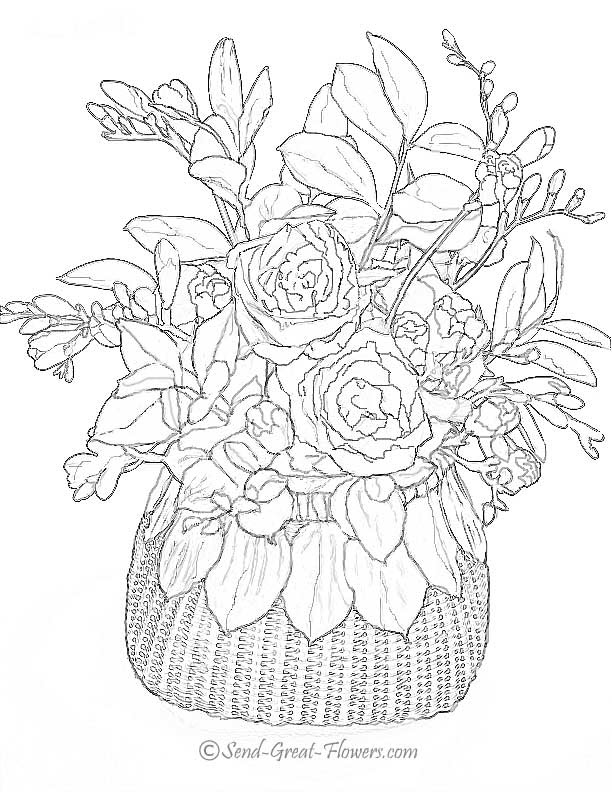 Difficult Flower Coloring Pages - GetColoringPages.com