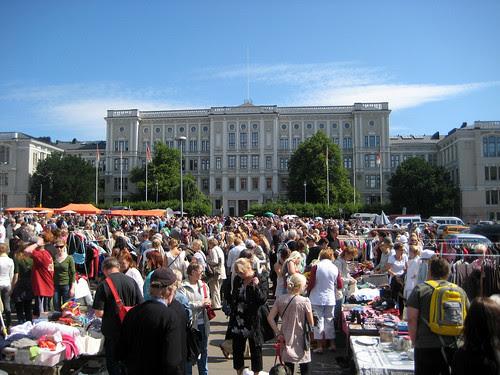 Hietalahti flea market in Helsinki
