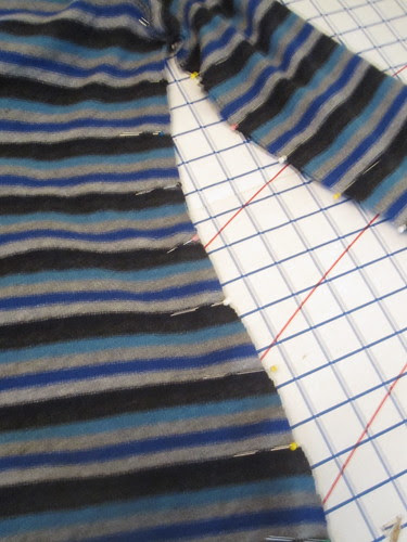 Pin at Stripe Juncture for Matching