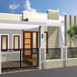 Desain Rumah Indonesia: Desain Pagar Rumah Ukuran 6 Meter