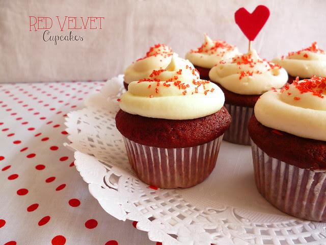 Raspberry Bloom: Red Velvet Cupcakes