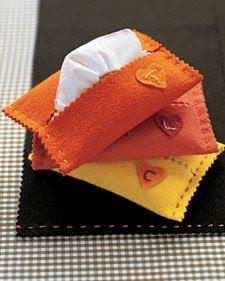 porta lenço feltro