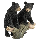 Veronese Design Black Bear Cubs On Tree Branch Sculpture