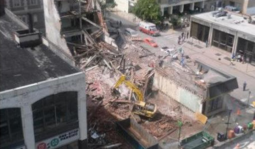 edificio se derrumbo en filadelfia, estados unidos