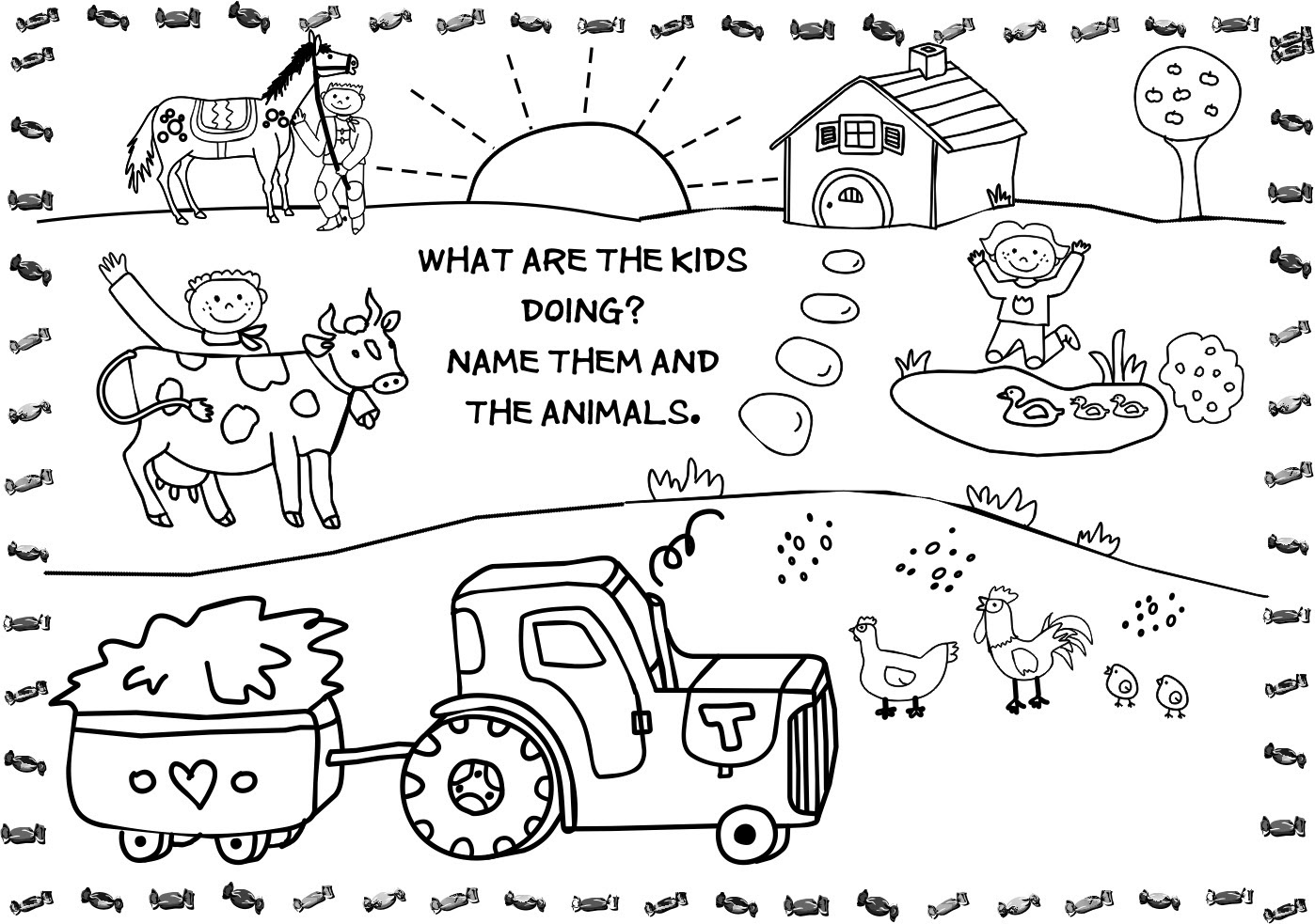 Free old macdonald farm coloring pages