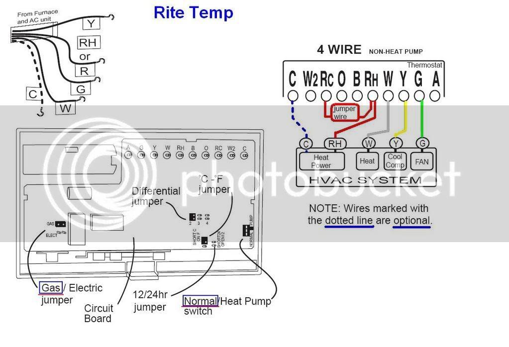 Ritetemp Thermostat Wiring Diagram