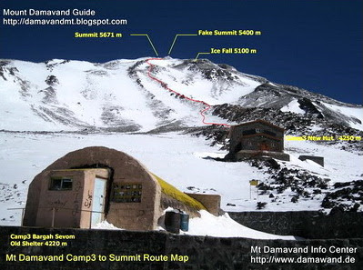 Damavand South Route Ridge