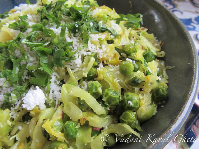 Quick and Easy Cabbage Bhaji