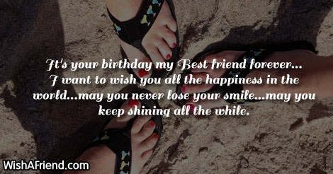 Its Your Birthday My Best Friend Whatsapp Status For Friends