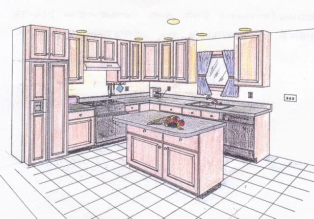 Kitchen Perspective Drawing At Getdrawingscom Free For Personal