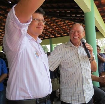 João Marcelo ao lado do pai João Alberto