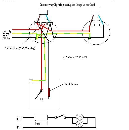 Two Way Switching Wiring Diagram