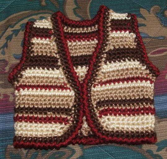 Maur free template easy pattern crochet vest baby women jones mini