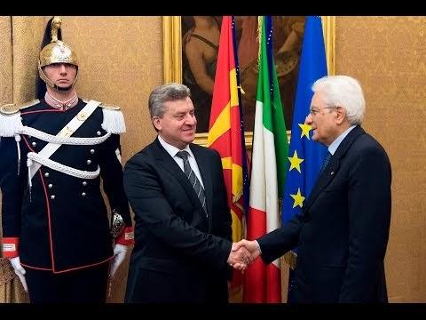 Präsident Ivanov besucht italienischen Kollegen Mattarella