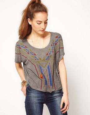 Image 1 ofWkShp Arrowhead Slouchy Cropped T-Shirt