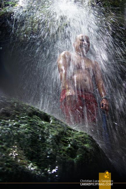 Enjoying Kalubihon Falls in Iligan City