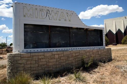 midway drive-in neon sign