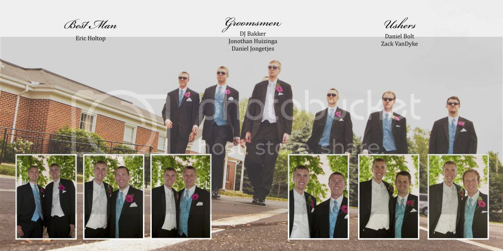 Groomsmen Wedding Album Layout