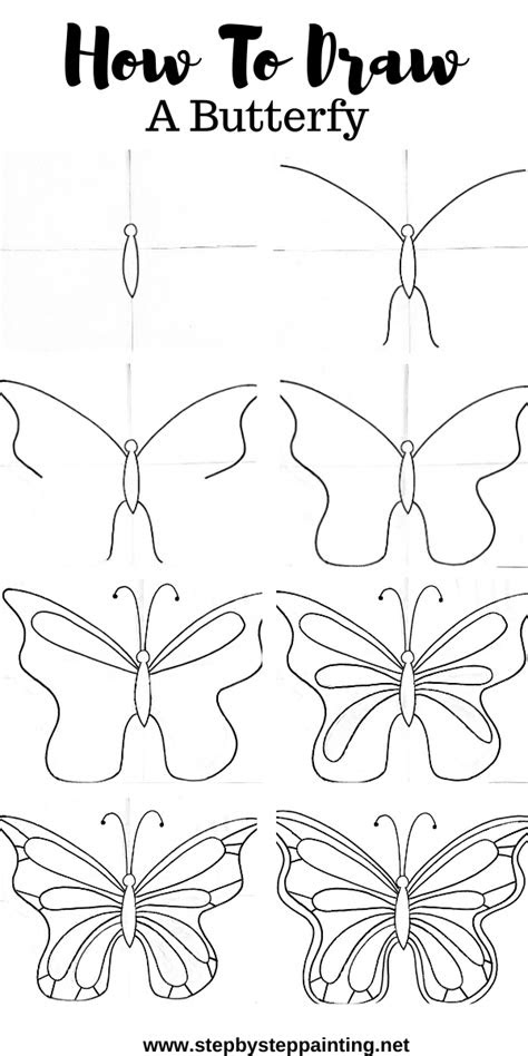 How To Draw A Butterfly - Easy - Step By Step Drawing
