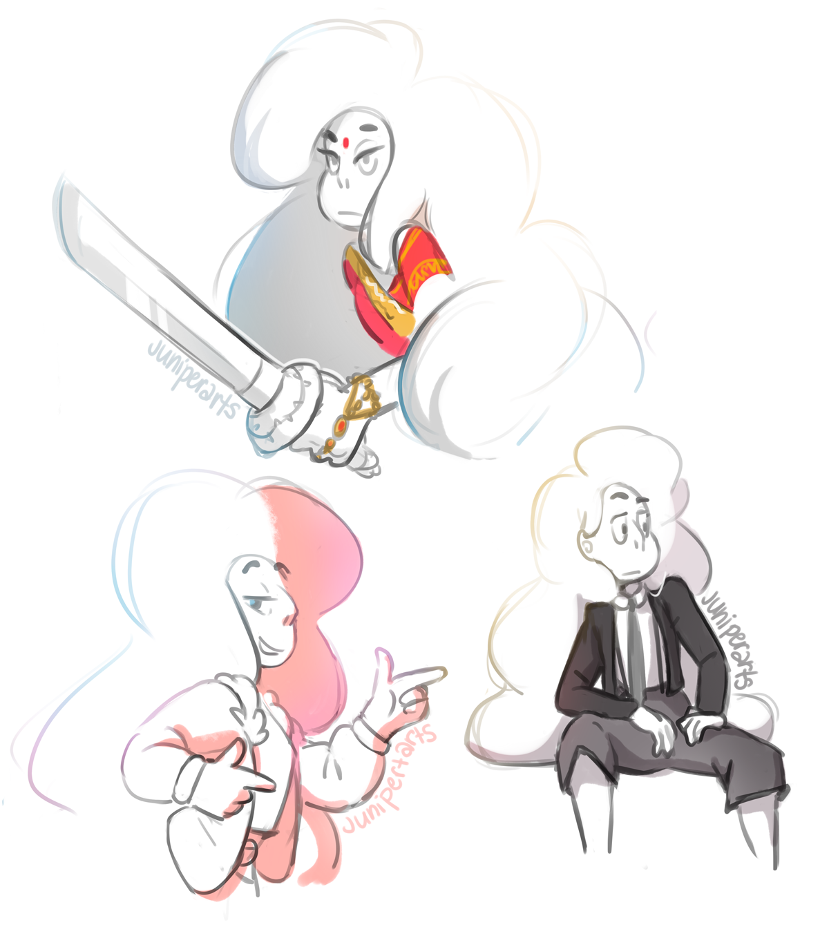 It's been a while since I've drawn them so here's some Stevonnie doodles before the nuke hits.