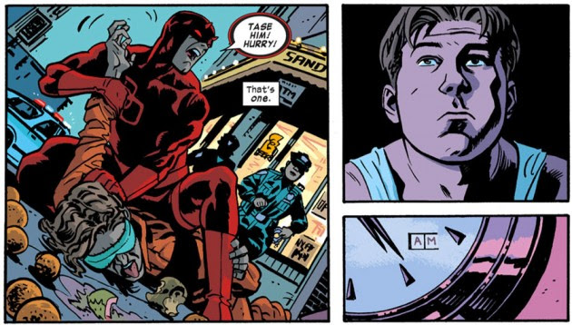 Daredevil in action, from Daredevil #23 by Mark Waid and Chris Samnee