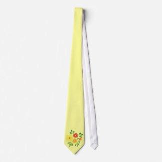 Summer flowers tie