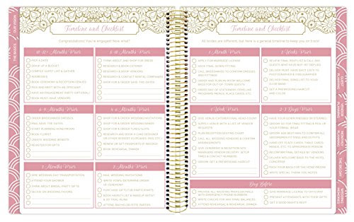 bloom daily planners Undated Wedding Planner – Hard Cover Wedding ...