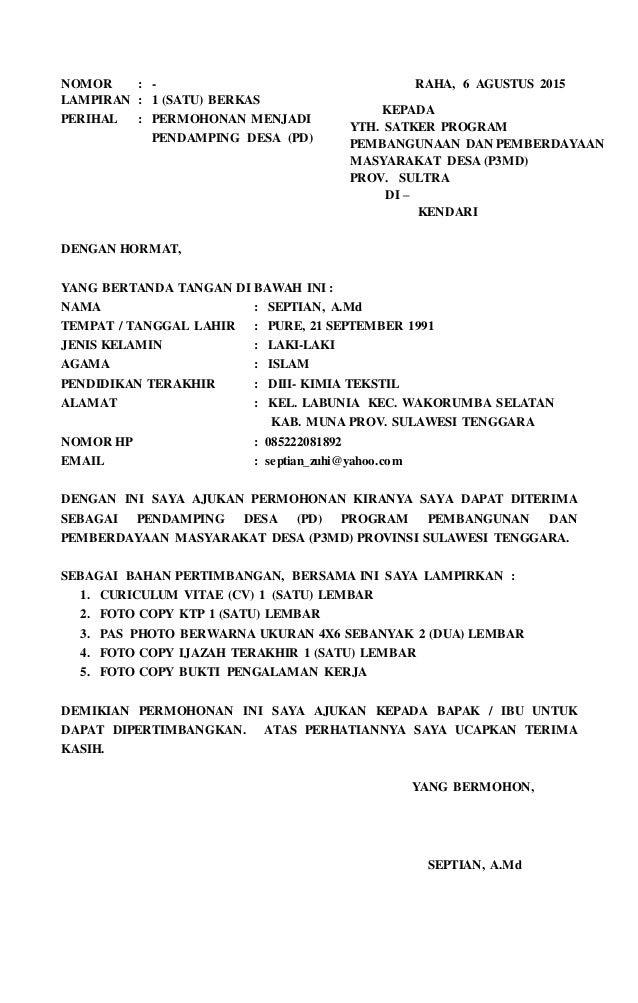 Contoh Surat Lamaran Kerja Operator Jahit - Contoh 36