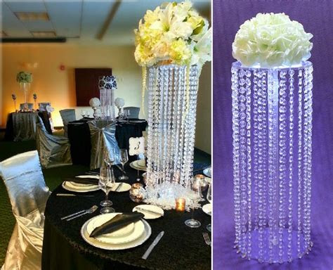 acrylic crystal wedding centerpiece/tall flower stand for