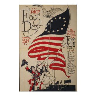 140th Flag Day Posters